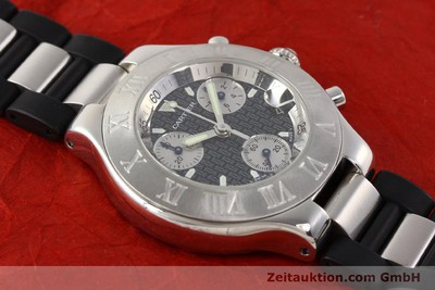 CARTIER CHRONOSCAPH 21 STEEL QUARTZ KAL. 272 ETA 251272 [141670]