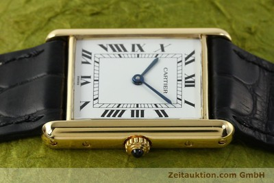 CARTIER TANK 18 CT GOLD QUARTZ KAL. 90.06 [141703]