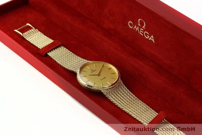 OMEGA DE VILLE 14 CT YELLOW GOLD QUARTZ KAL. 1365 [141731]