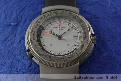 IWC PORSCHE DESIGN TITAN WORLD TIME GMT WELTZEIT ALARM HERRENUHR REF 3821 / 3822 [141761]