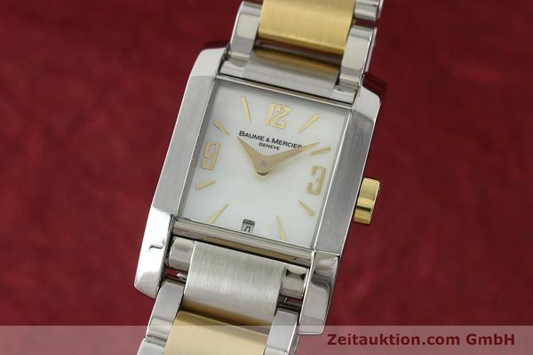 BAUME & MERCIER HAMPTON LADY STAHL / GOLD DAMENUHR VP: 3100,- EURO [141763]