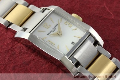 BAUME & MERCIER HAMPTON GILT STEEL QUARTZ KAL. BM7111 ETA F03111 LP: 3100EUR [141763]