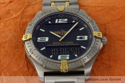 BREITLING AEROSPACE CHRONOGRAPHE TITANE / OR QUARTZ KAL. B75 [141775]