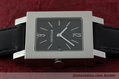 BVLGARI QUADRATO EDELSTAHL HERRENUHR MEDIUM SQ29SLD VP: 4580,- EURO [141794]