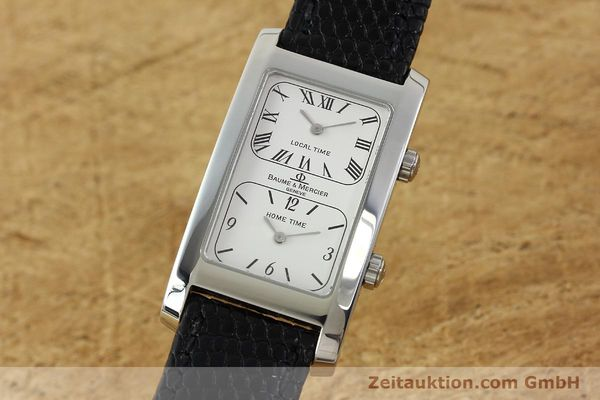 BAUME & MERCIER HAMPTON STAHL DUAL TIME HERRENUHR MV045121 VP: 2800,- EURO [141853]