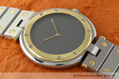 CARTIER SANTOS RONDE STAHL / GOLD HERRENUHR MEDIUM VP: 6800,- EURO [141858]