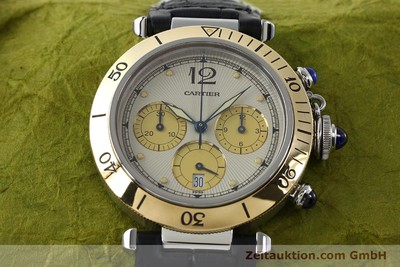 CARTIER PASHA CHRONOGRAPH STEEL / GOLD QUARTZ KAL. 053 [141872]