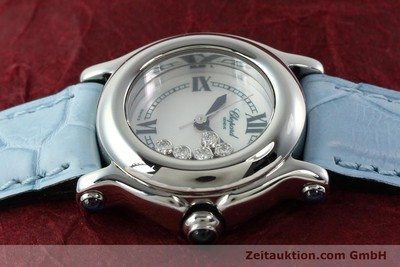 CHOPARD LADY HAPPY SPORT DIAMANTEN DAMENUHR EDELSTAHL 27/8250-23 VP: 5055,- EUR [141914]