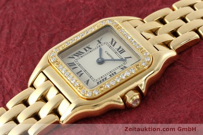CARTIER PANTHERE 18 CT GOLD QUARTZ KAL. 157 [141936]