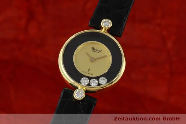 CHOPARD LADY 18K GOLD HAPPY DIAMONDS DAMENUHR DIAMANTEN VP: 10940,- EURO [141959]