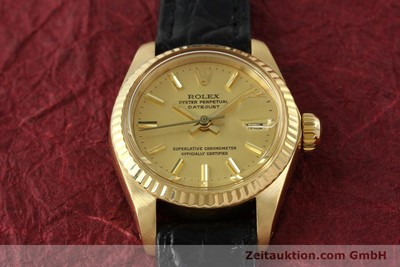 ROLEX LADY DATEJUST 18 CT GOLD AUTOMATIC KAL. 2030 [141993]