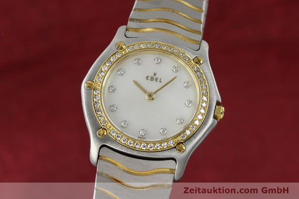 EBEL CLASSIC WAVE LADY GOLD / STAHL BRILLANTEN DIAMANTEN DAMENUHR VP: 4300,- Euro [141999]