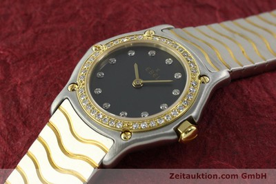 EBEL CLASSIC WAVE STEEL / GOLD QUARTZ KAL. 057 [142000]