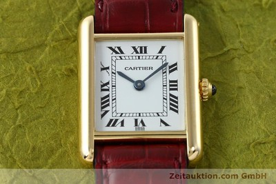 CARTIER TANK 18 CT GOLD QUARTZ KAL. 057 [142002]