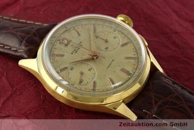 BREITLING CADETTE CHRONOGRAPH 18 CT GOLD MANUAL WINDING KAL. VENUS 188 [142006]