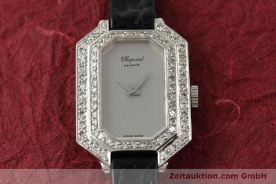 CHOPARD LADY 18K (0,750) WEISS GOLD DAMENUHR DIAMANTEN KARRÉE VP: 19750,- EURO [142010]