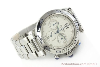 CARTIER PASHA CHRONOGRAPH STEEL AUTOMATIC KAL. 205 [142026]