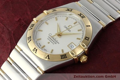 OMEGA CONSTELLATION GOLD / STAHL AUTOMATIK HERRENUHR DATUM VP: 5100,- EURO [142055]