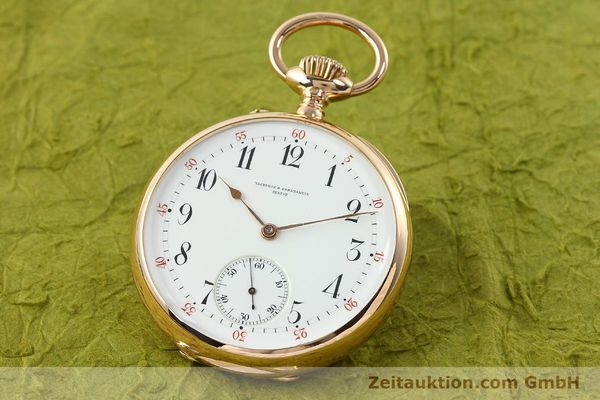 VACHERON & CONSTANTIN TASCHENUHR 18 CT GOLD MANUAL WINDING [142195]