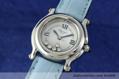 CHOPARD LADY HAPPY SPORT DIAMANTEN DAMENUHR EDELSTAHL 27/8245-23 VP: 5055,- EURO [142203]
