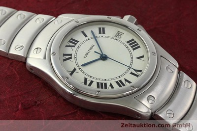 CARTIER COUGAR STEEL AUTOMATIC KAL. 049 ETA 2892A2 LP: 5000EUR [142260]