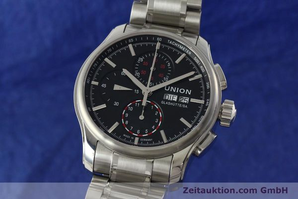 UNION GLASHÜTTE VIRO CHRONOGRAPHE ACIER AUTOMATIQUE KAL. U7750 LP: 2100EUR  [142270]