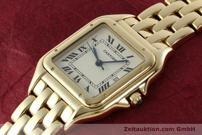 CARTIER 18K (0,750) GOLD PANTHERE HERRENUHR GOLDBAND DATUM VP: 19000,- EURO [142272]