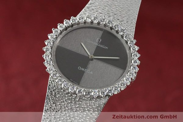 OMEGA LADY CONSTELLATION 18K (0,750) WEISSGOLD HANDAUFZUG DIAMANTEN VP: 18500,-Euro [142339]
