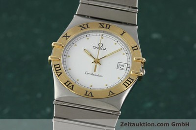 OMEGA CONSTELLATION STAHL / GOLD HERRENUHR DATUM VP: 5100,- EURO [142346]