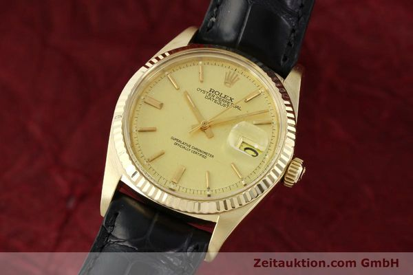 ROLEX DATEJUST 18 CT GOLD AUTOMATIC KAL. 1570 LP: 14640EUR [142486]