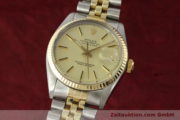 ROLEX DATEJUST STEEL / GOLD AUTOMATIC KAL. 3035 LP: 8800EUR [142488]