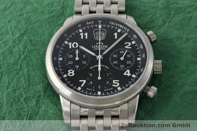 UNION GLASHÜTTE KLASSIK CHRONOGRAPH STEEL AUTOMATIC KAL. 26 LP: 3010EUR [142502]