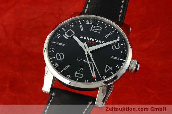 MONTBLANC TIME WALKER GMT HERRENUHR EDELSTAHL AUTOMATIK 7081 VP: 3890,- EURO [142507]