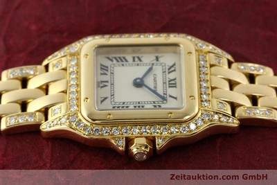 CARTIER PANTHERE 18 CT GOLD QUARTZ KAL. 157 [142523]