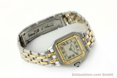 CARTIER PANTHERE STEEL / GOLD QUARTZ KAL. 157 [142525]