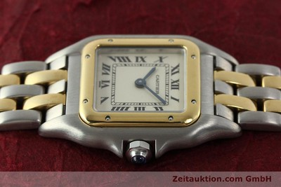 CARTIER PANTHERE STEEL / GOLD QUARTZ KAL. 66 [142536]