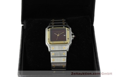 CARTIER SANTOS STEEL / GOLD AUTOMATIC KAL. ETA 2671 [142542]