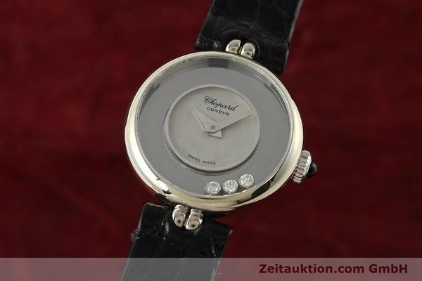 CHOPARD LADY HAPPY DIAMONDS 18K (0,750) WEISSGOLD HANDAUFZUG VP: 10940,- EURO [142571]