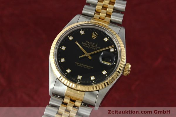 ROLEX DATEJUST STEEL / GOLD AUTOMATIC KAL. 3035 LP: 10600EUR [142598]
