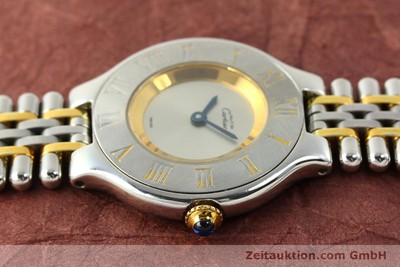 CARTIER LIGNE 21 GILT STEEL QUARTZ KAL. 90.06 [142602]