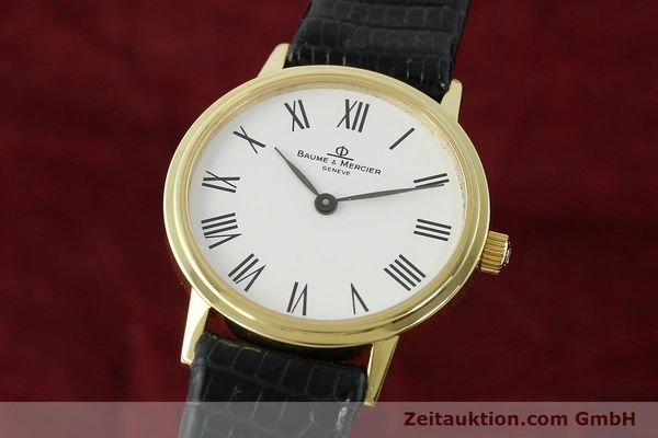 BAUME & MERCIER 18 CT GOLD QUARTZ KAL. BM5095 ETA 976.001  [142604]