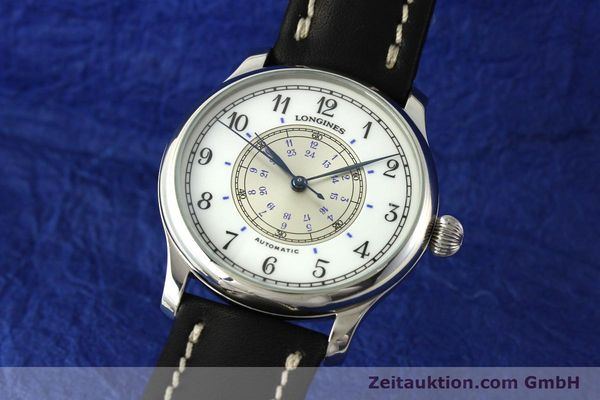 LONGINES WEEMS NAVIGATION WATCH EDELSTAHL AUTOMATIK HERRENUHR 628.5241 [142606]