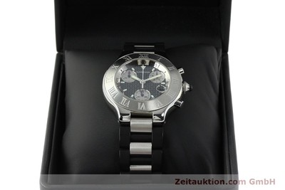 CARTIER CHRONOSCAPH 21 CHRONOGRAPH STEEL QUARTZ KAL. 372 ETA 251.372 [142627]