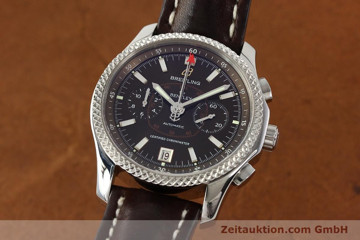 bentley steel eta ref zeitauktion kal breitling automatic chronograph en full