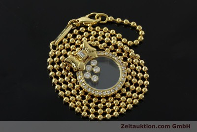 CHOPARD LADY HAPPY DIAMONDS KETTE 18K GOLD COLLIER DIAMANTEN VP: 11250,- EURO [142690]