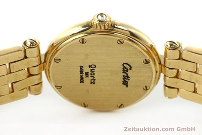 CARTIER LADY 18K GOLD 0,750 PANTHERE DIAMANTEN RONDE DAMENUHR VP: 21900,- EURO [142716]