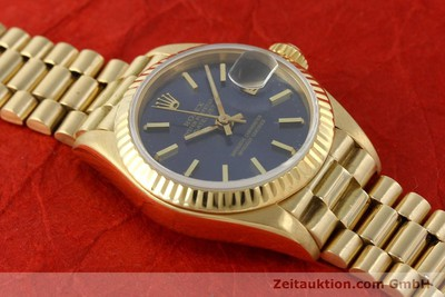 ROLEX LADY 18K (0,750) GOLD DATEJUST AUTOMATIK DAMENUHR 69178 VP: 20600,- EURO [142724]