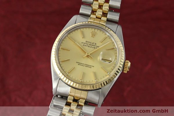 ROLEX DATEJUST STEEL / GOLD AUTOMATIC KAL. 3035 LP: 8800EUR [142725]