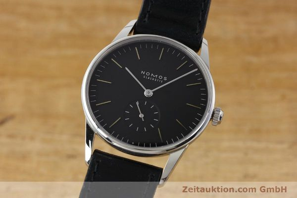 NOMOS ORION STEEL MANUAL WINDING KAL. ALPHA 10471 LP: 1400EUR [142733]