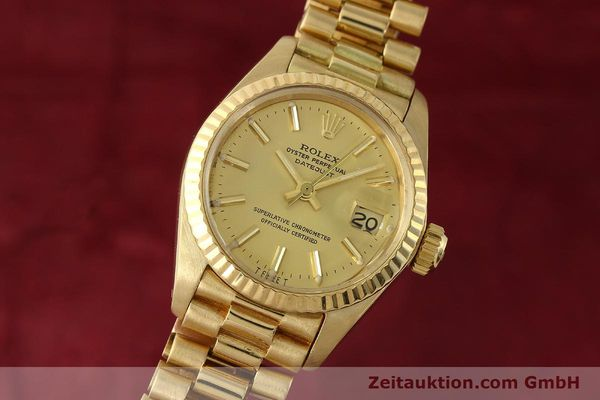 ROLEX LADY DATEJUST 18 CT GOLD AUTOMATIC KAL. 2030 LP: 20600EUR [142742]